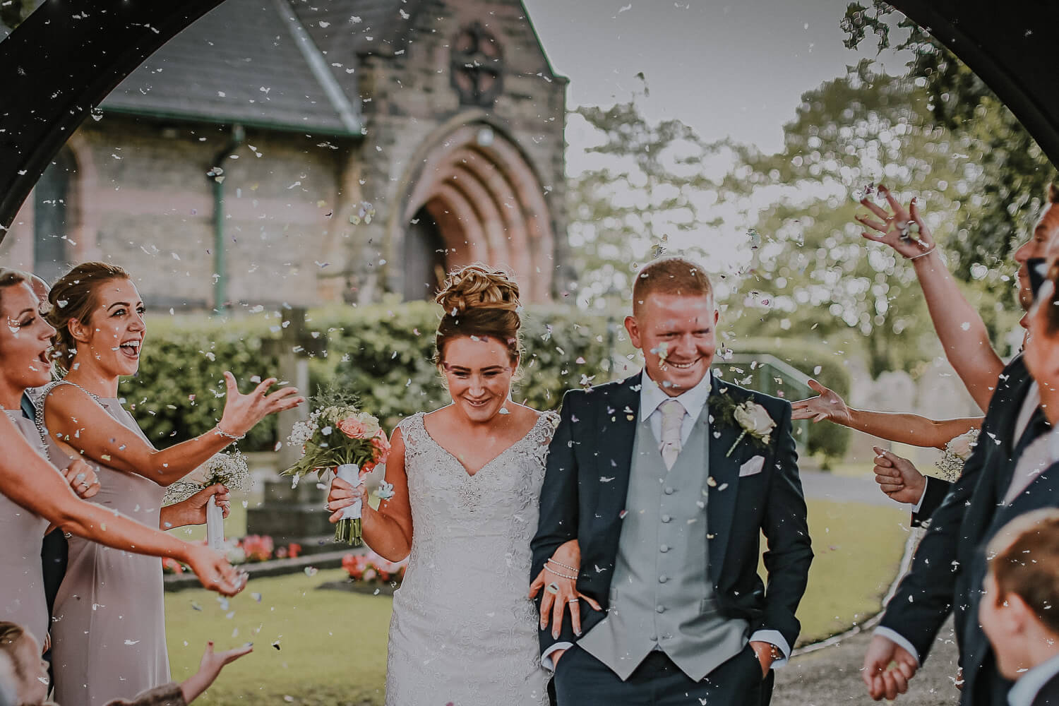 wedding photography Rainford Church Lancashire photographer