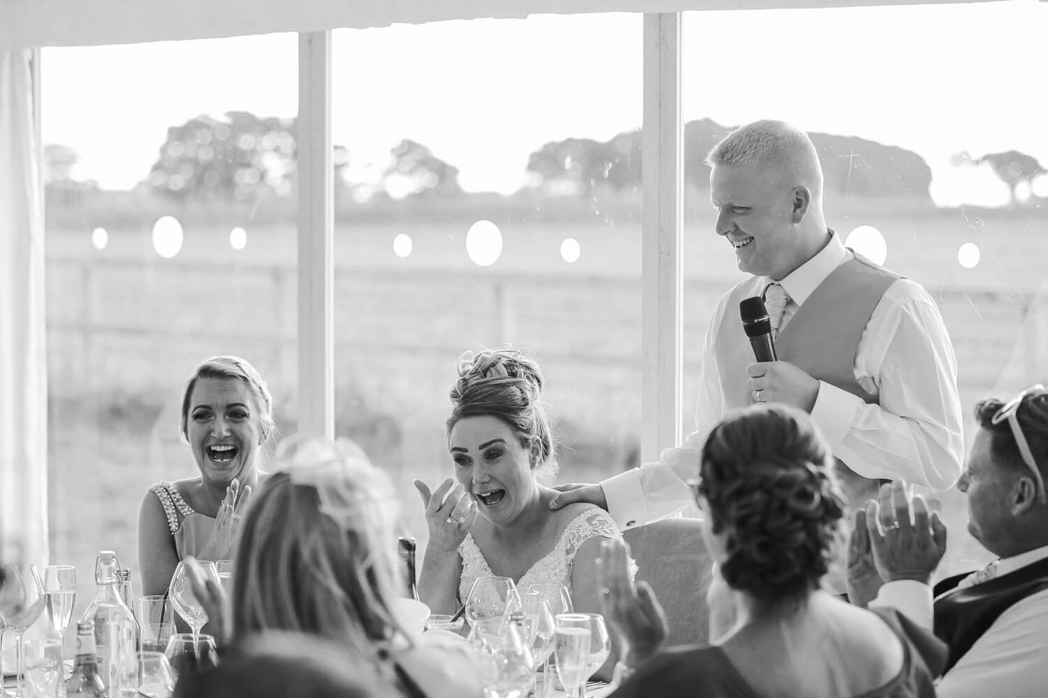 wedding speeches family farm marquee wedding Ormskirk Lancashire Photographer