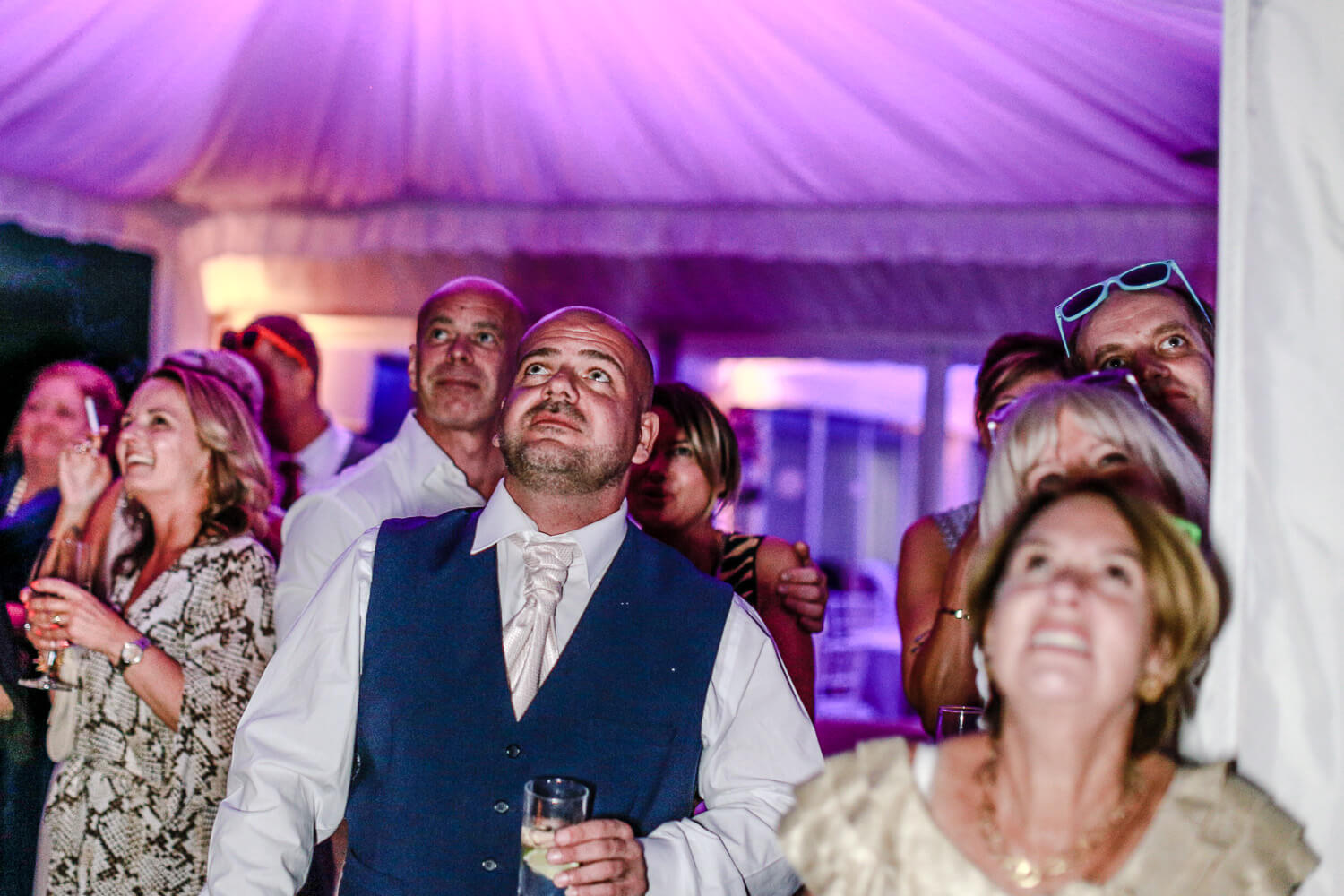 wedding guests dancing family farm marquee wedding Ormskirk Lancashire Photographer