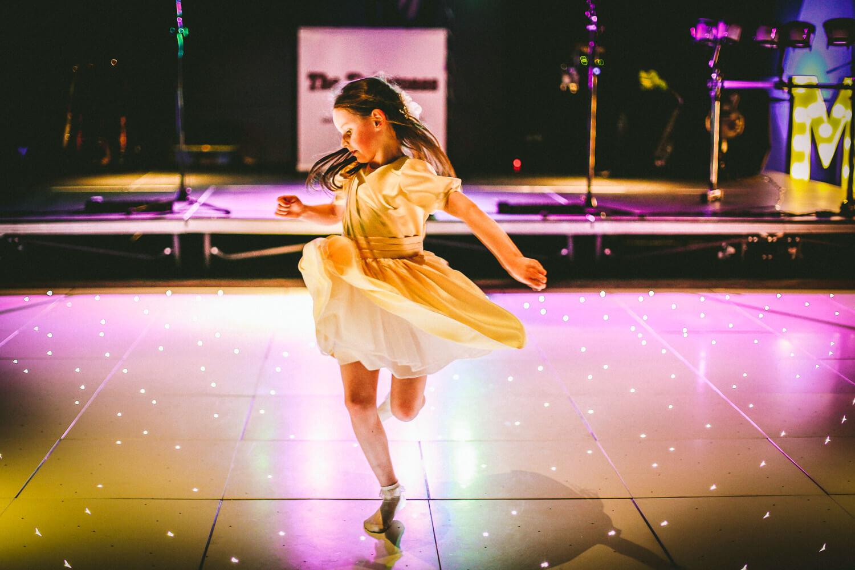 Titanic Hotel Wedding Liverpool. flower girl dancing