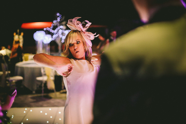 Titanic Hotel Wedding Liverpool. woman dancing