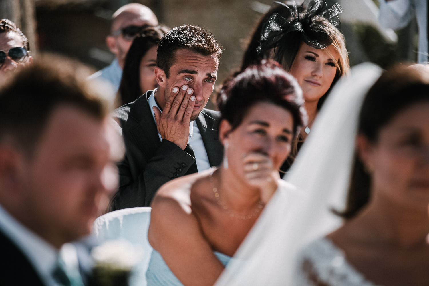 man crying wedding in Tuscany Fatroria la loggia