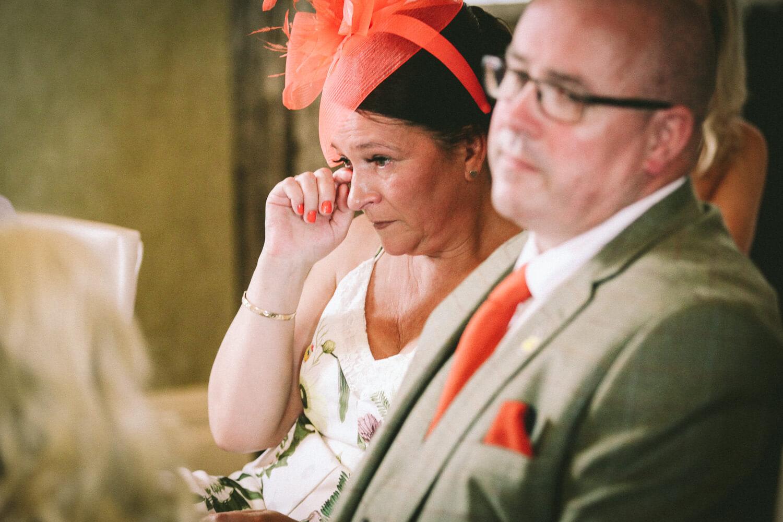 emotional reaction to wedding speeches 30 James Street Liverpool wedding photography