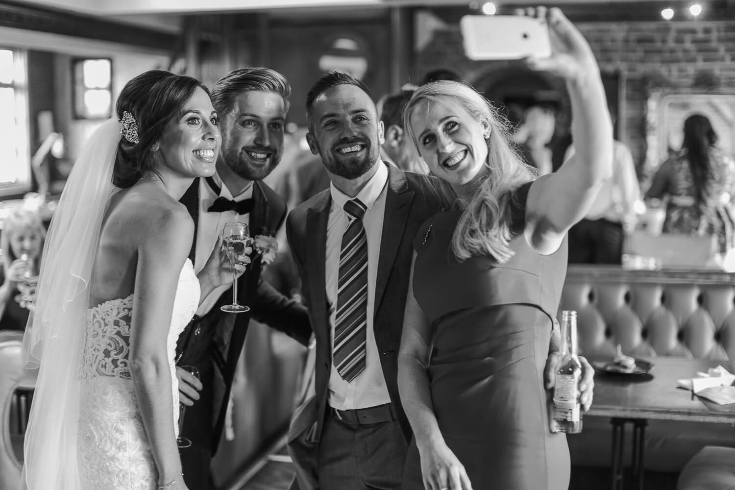 natural photo of wedding guests 30 James Street Liverpool wedding photography