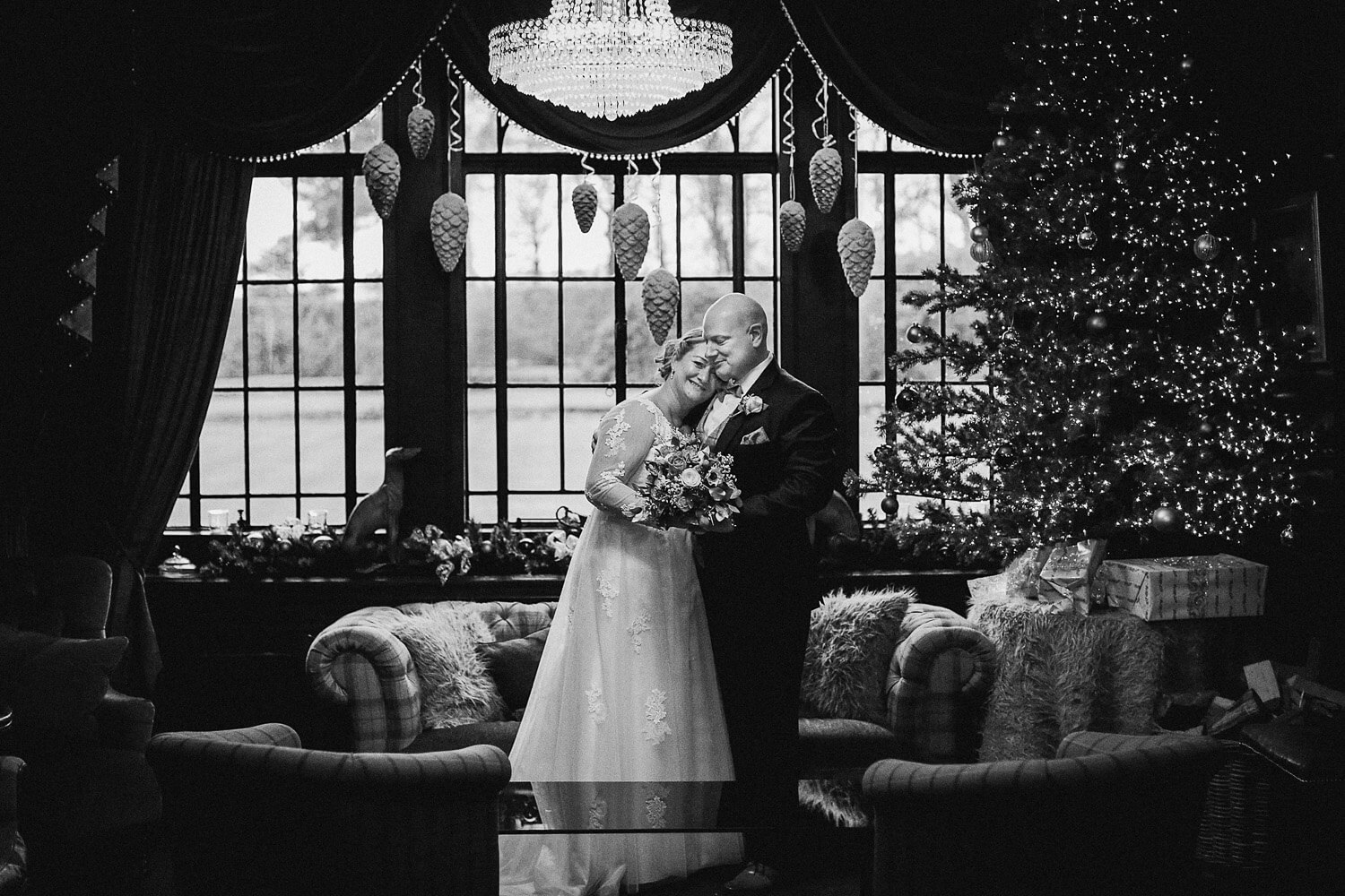EAVES HALL WEDDING PHOTOGRAPHY: MAGICAL WINTER WEDDING