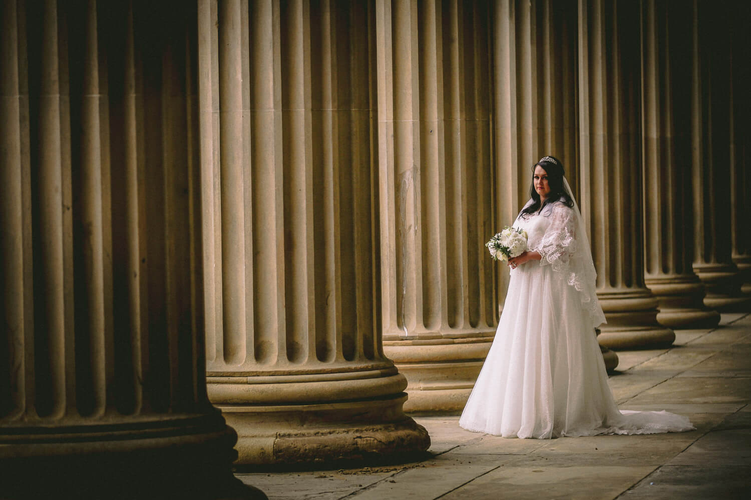 Portrait of bride St Georges Hall Liverpool