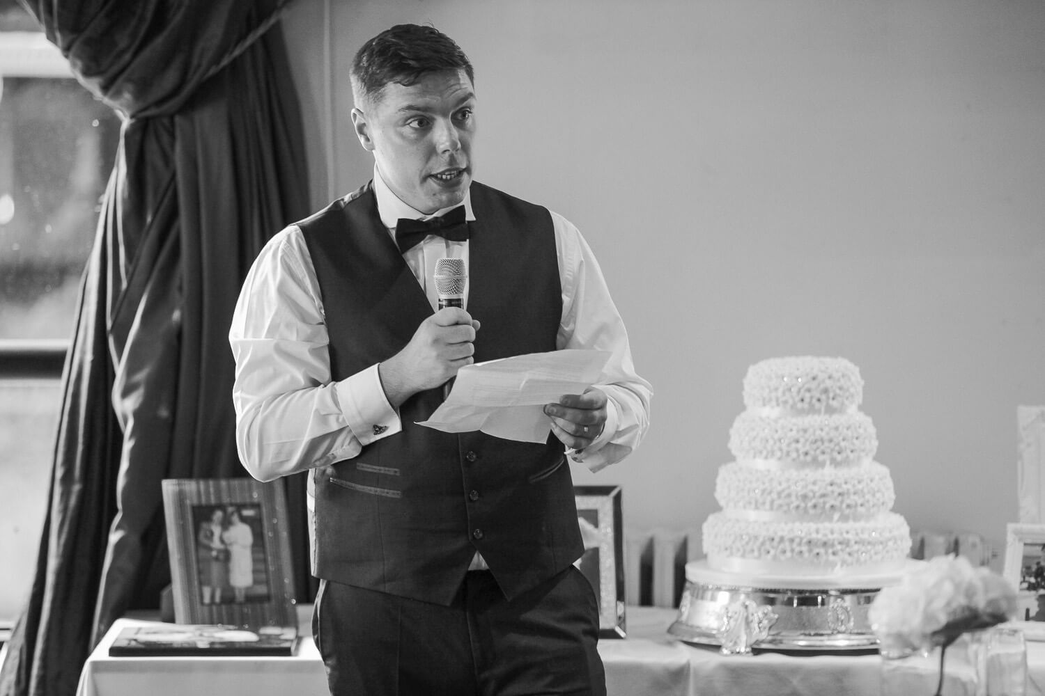 groom speech Sir Thomas Hotel, Liverpool city wedding photographer