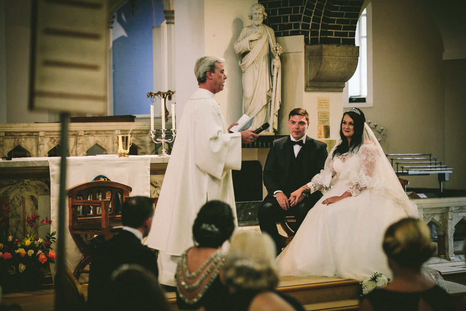 wedding at St Teresa's church Liverpool