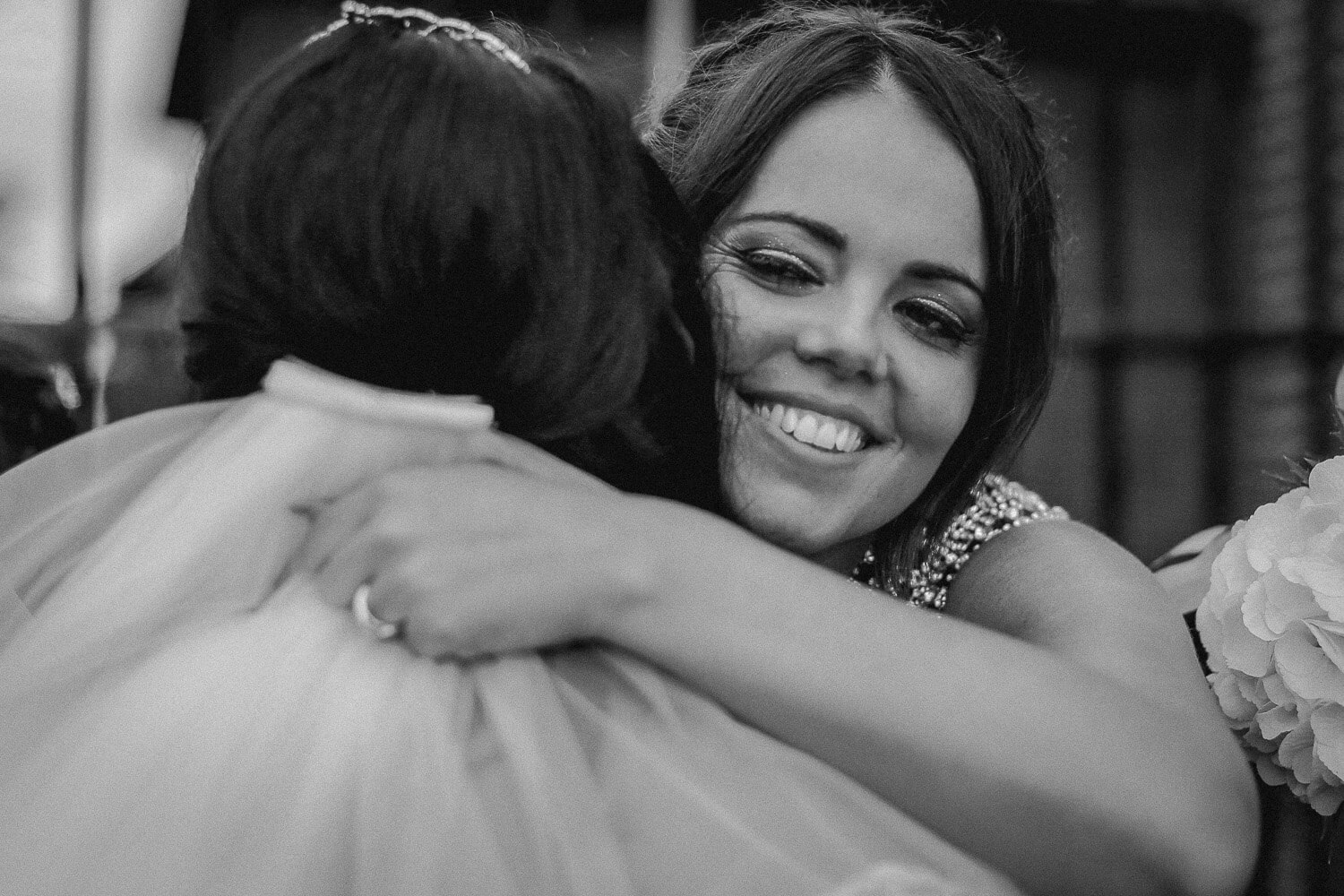 wedding hugs Sir Thomas Hotel, Liverpool city wedding photographer