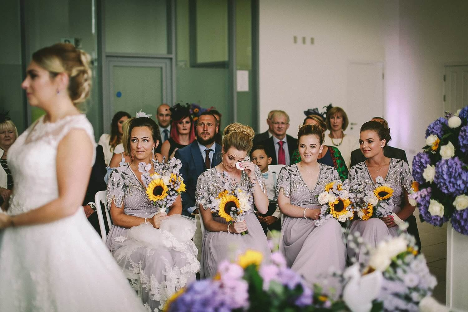Bridesmaid crying Royal Liver Building wedding photography