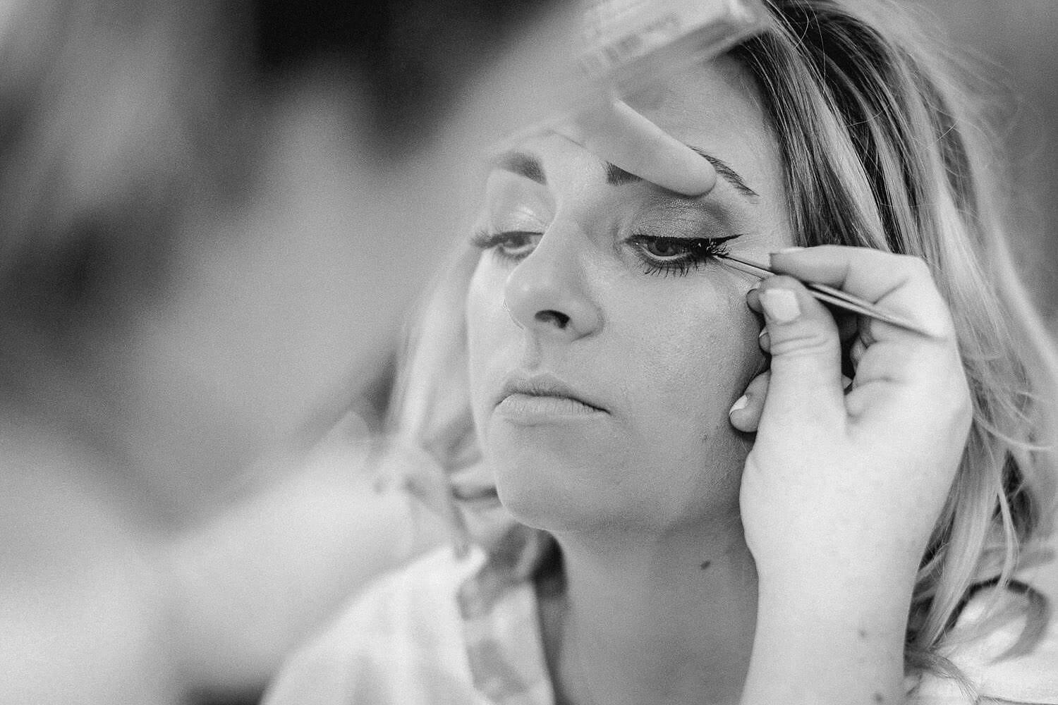 Close up of brides make up Royal Liver Building wedding photography