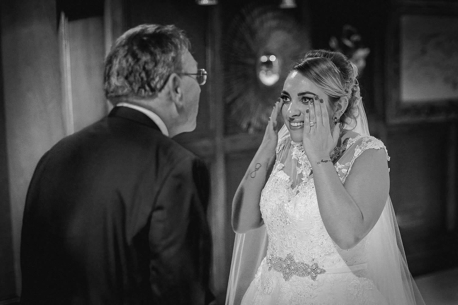 Bridal reveal Royal Liver Building wedding photography