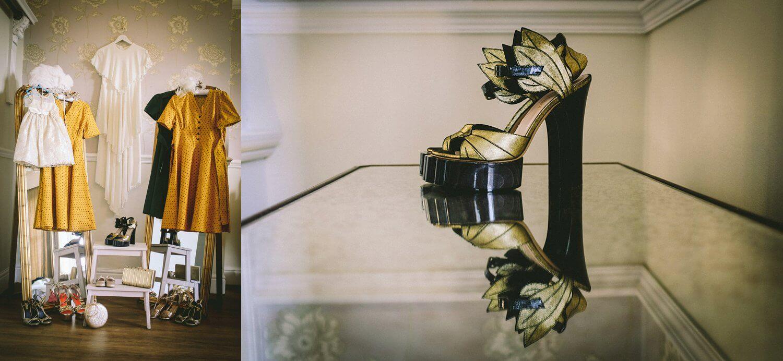 Vivianne Westwood vintage wedding shoes Ashfield house