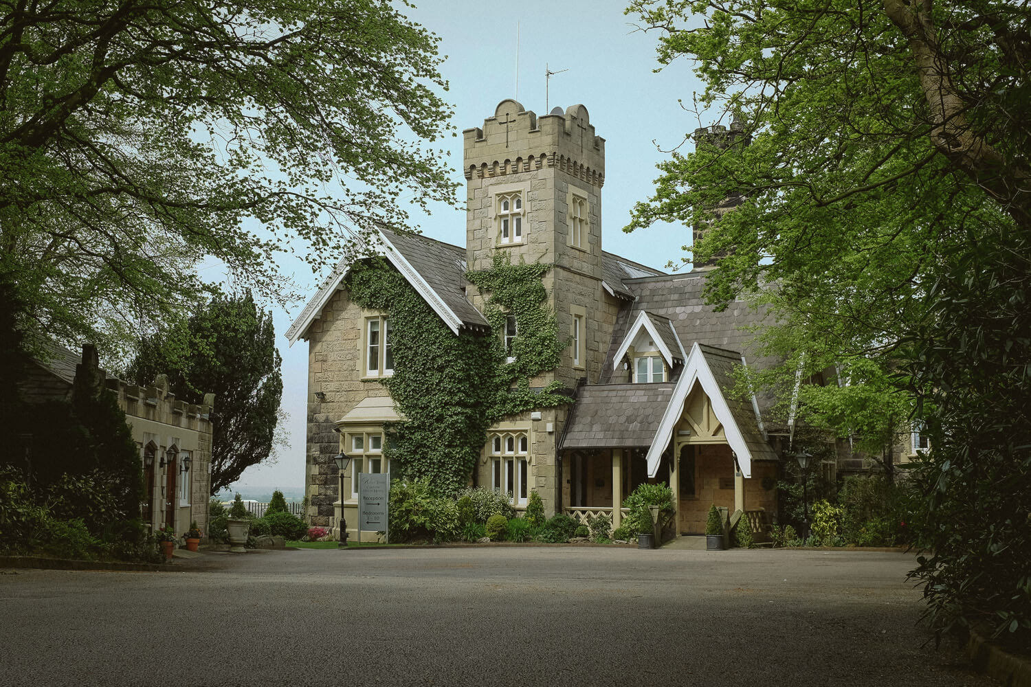photo of the front of West Tower manor house Aughton Lancashire