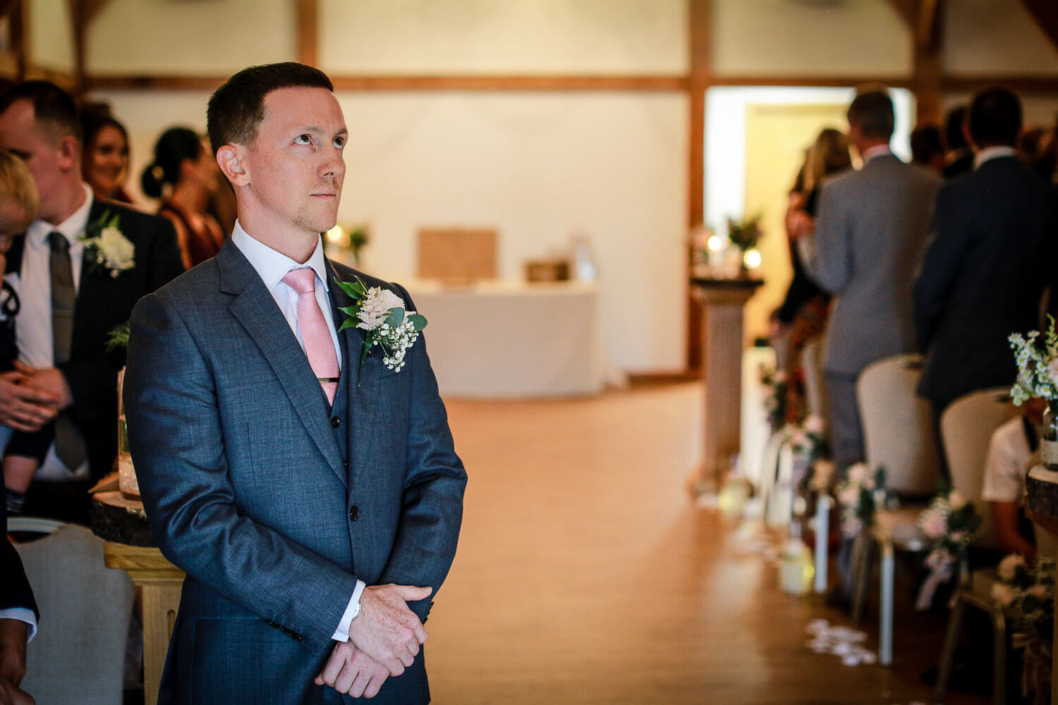 Do I need second wedding photographer. Pictures Groom waiting for bride