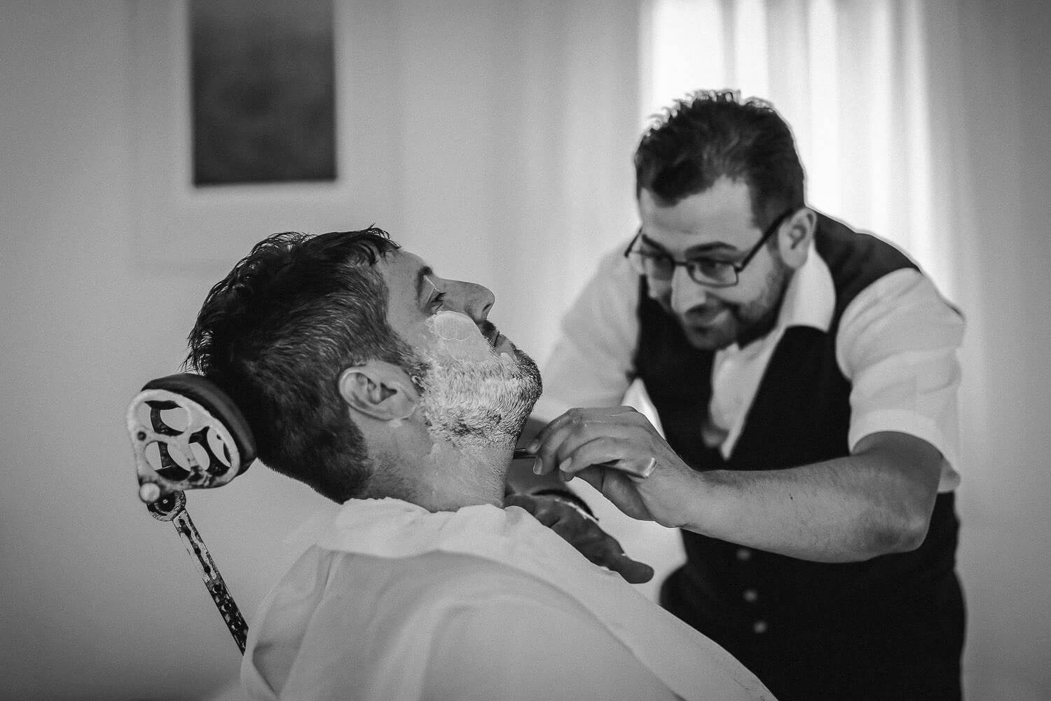 Man having turkish shave
