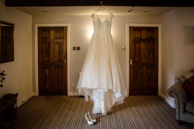Modeca wedding gown Sandhole Oak Barn wedding photography