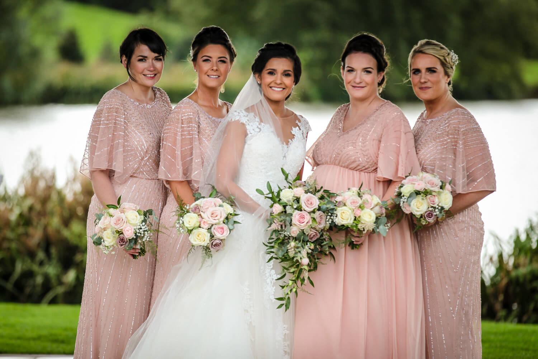 Bridal party Sandhole Oak Barn