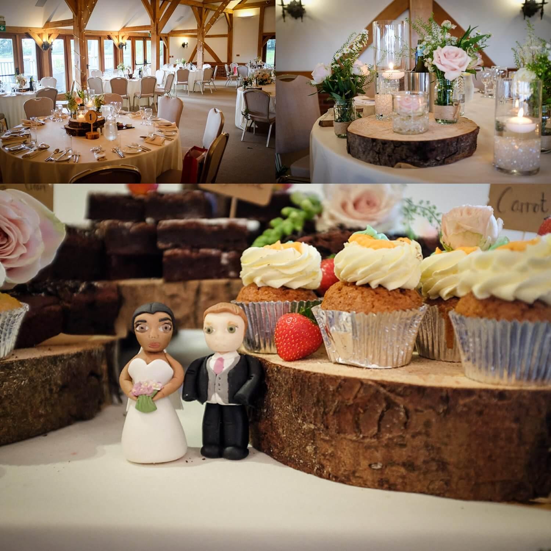 wedding cake and room view Sandhole Barn