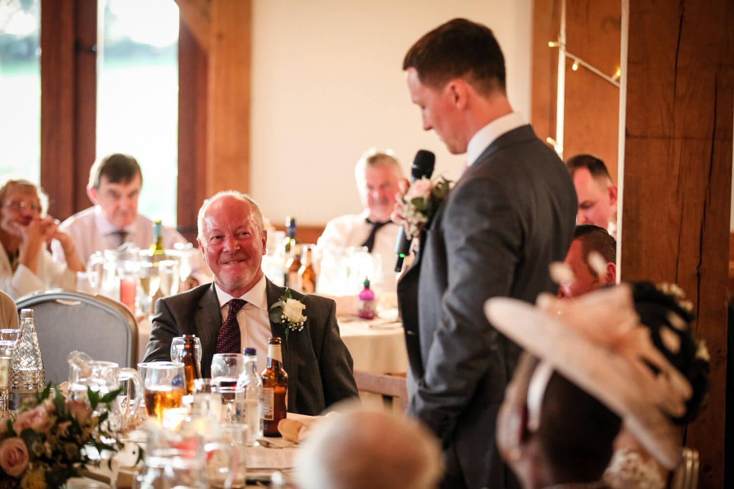 Dad s reaction to sons wedding speech