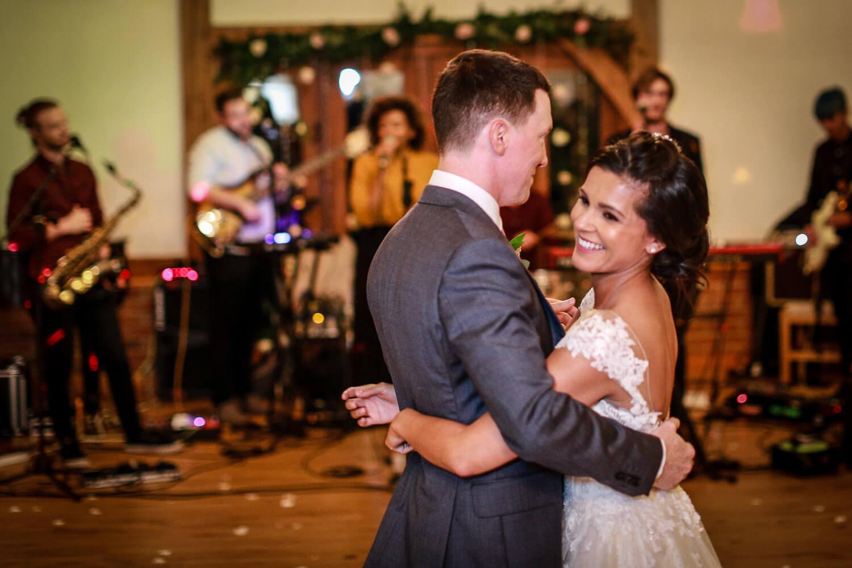 First dance Sandhole Oak Barn wedding