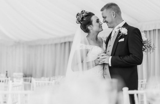 How to choose a wedding photographer UK. Black and white photo bride and groom