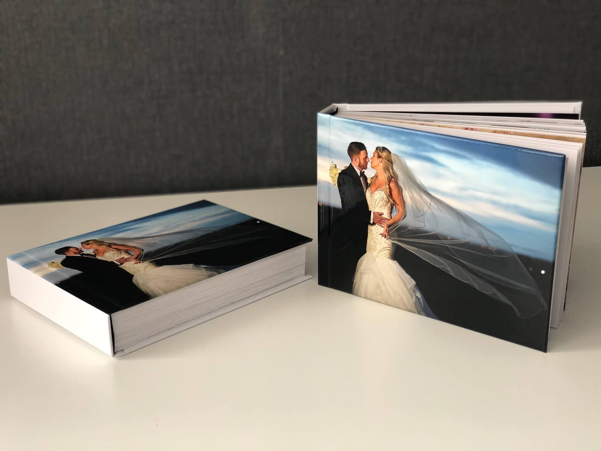 Two parent books wedding albums