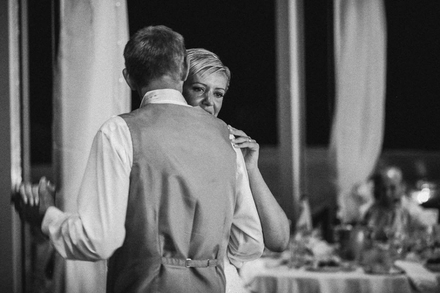 Bride dating with her father on wedding night Capo Bay Hotel Cyprus